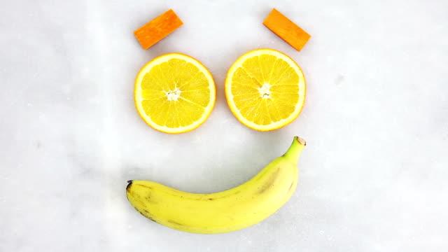 Obst Gesicht