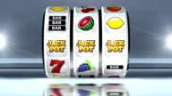 Fruitautomaat: Lijn van JACKPOT op lichte achtergrond