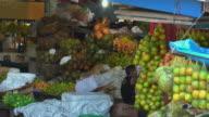 SLO MO MS Fruit market stall / Tefe, Amazonas, Brazil