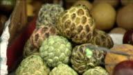 Fruit shop Piles of fruits Close Shot
