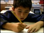 Frustrated student in classroom