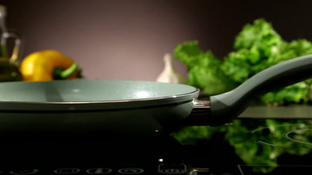 Frying pan on ceramic hob