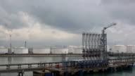 Fuel oil Terminal panorama.