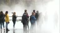 Fujiko Nakaya fog installation at the Tate Modern ENGLAND London Southwark Tate Modern EXT Various of Fujiko Nakaya fog installation sculpture...
