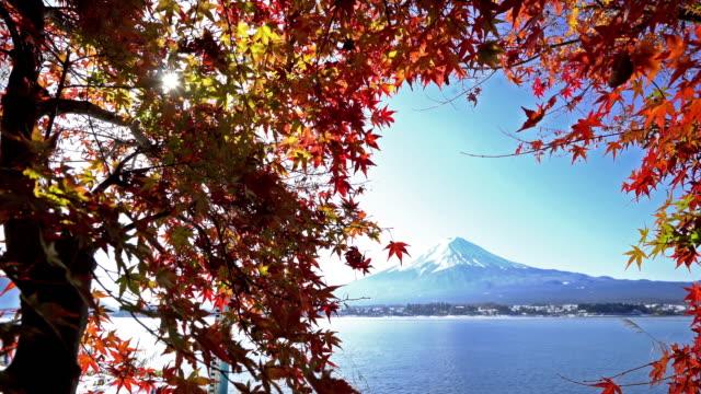 Fujisan in koyo autumn at kawaguchiko lake Yamanashi Japan