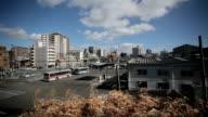 Fukuoka city view from train