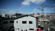 Fukuoka Stadt Blick vom Zug