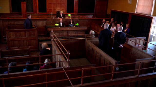 4K: Full Courthouse for Court Hearing
