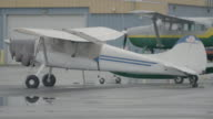 Full shot of planes parked at Merrill Field