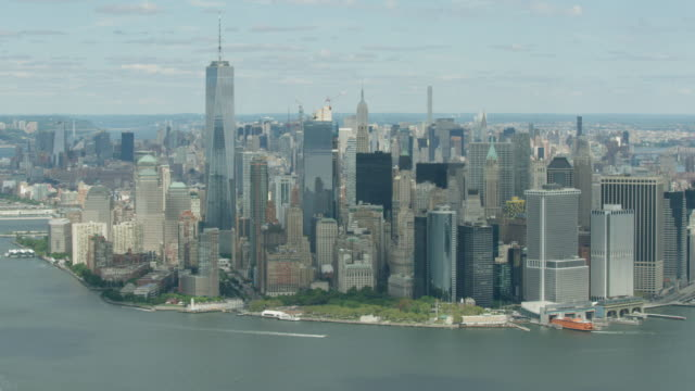 Full shot of the Manhattan Financial District
