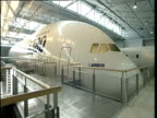 Full size model of nose section of Airbus A380 Toulouse; 05 Apr 04
