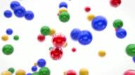 Lustige fliegende Bälle Animation-bunte (Full HD