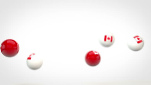Fun Glossy Balls Animation - Canadian Flags (Full HD)