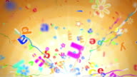 Fun Kids Background Loop - Alphabet Letters Orange (Full HD)