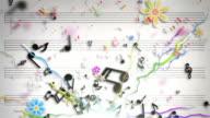 Fun Kids Background Loop - Musical Notes Blue (Full HD)