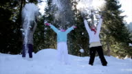 Fun with throwing snow