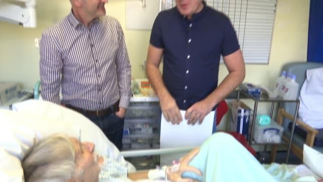Fundraiser helps 82yearold victim of robbery Shayne Yerrell interview SOT Various shots Ahmet Dobran in hospital bed Shayne Yerrell into hospital...