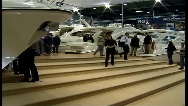 AIDS fundraising competition that costs five thousand pounds to enter ENGLAND London Docklands London Boat Show INT i/c