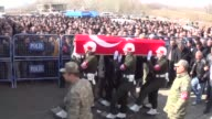 Funeral ceremony held for Turkish Army specialist sergeant Mehmet Sahin martyred in Operation Euphrates Shield near Daeshheld city of AlBab in...