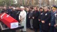 Funeral ceremony held for Turkish infantry lieutenant Tarik Kocoglu martyred in Operation Euphrates Shield near the Daeshheld city of AlBab in...
