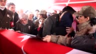 Funeral ceremony held for Turkish lieutenant Furkan Yayla martyred in Operation Euphrates Shield near the Daeshheld city of AlBab in northern Syria...