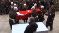 Funeral ceremony held for Turkish Sergeant Muhammet Duran Keskin martyred during the battle to take the Syrian town of AlBab in northern Syria on...