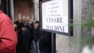 A funeral ceremony is held for Cesare Maldini in Saint Ambrose Basilica in Milan Italy on April 05 2016 Italy's legendary AC Milan defender and...