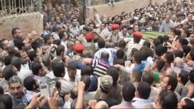 Funeral ceremony of Egyptian soldier Abdurrahman Mutawalli killed in the deadly attacks in the North Sinai town of Sheikh Zuweid is held in Dakahleya...
