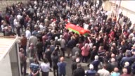 Funeral ceremony of Emine Ercan who was killed in Ankara bombings on Saturday is held in Corum Turkey on October 12 2015 97 people have been killed...