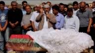 Funeral ceremony of Sidar Cevik and Nilgun Cevik who were killed in Ankara bombings on Saturday is held in Suruc district of Sanliurfa Turkey on...