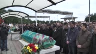 Funeral ceremony of Turkish AzizAsiye Sekersoz couple who were murdered at their own pizza restaurant in Finnish town of Laukaa is held in Istanbul...
