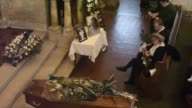 Funeral in Rome of Swedish actress Anita Ekberg known for one of cinema's most sensual performances in Federico Fellini's 1960 film La Dolce Vita who...