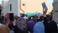 Funeral is held for Palestinian 17yearold Mohammed Lafi shot dead in Israelioccupied East Jerusalem on Friday in Ramallah on July 21 2017The killings...