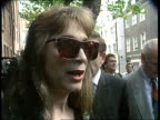 Funeral of the Duchess of Argyle EXT Mayfair CMS Lady Colin Campbell intvwd SOT I was very fond of her