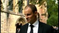 Funeral of Tom Maynard Andrew Strauss interview SOT