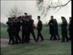 Funeral of undercover soldier killed in Ulster ENGLAND Kent Lullingstone Castle GV Castle Gate GV GOH outside church CS GOH Pull Back MS Side coffin...