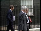Westminster reaction ENGLAND London Downing St CMS Home Sec Douglas Hurd NI Sec Tom King Cecil Parkinson others LR to BV