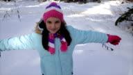 Funny Falling into deep snow