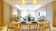 furniture and design of modern dining room