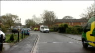 Further controlled explosions at suspect's Bristol home ENGLAND Bristol WestburyonTrym Comb Paddock EXT Police forensic tent at rear of suspect...