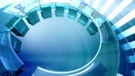 Futuristische 3D Kreise-Hintergrund-Loop