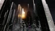 futuristic 3d city