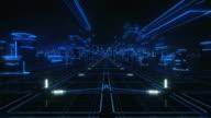 Futuristische abstrakt Hintergrund, blau. Endlos wiederholbar. Technologie.