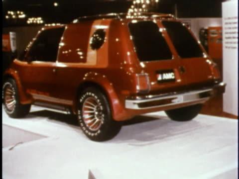 MONTAGE Futuristic AMC car prototypes at 1978 Concept Car show/ USA