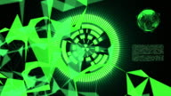 futuristic and technology concept,green background