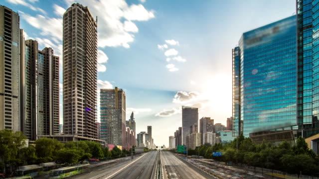 Città futuristica Time lapse