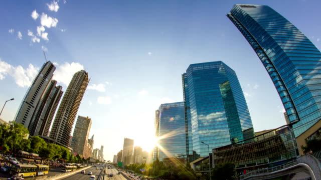 Futuristische Stadt timelapse