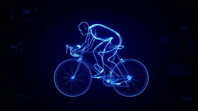 Futuristic cycling background #2