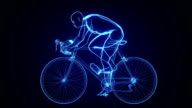 Futuristic cycling background