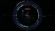 Futuristic GPS tracking system screen -GUI stock video
